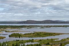 Blick über Þingvallavatn