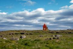 Leuchtturm Hafnarnesviti